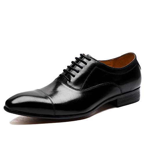 Lixiyu herenschoenen van Oxford-leer, met veters, formele schoenen, zakelijke schoenen, vrijetijdsschoenen