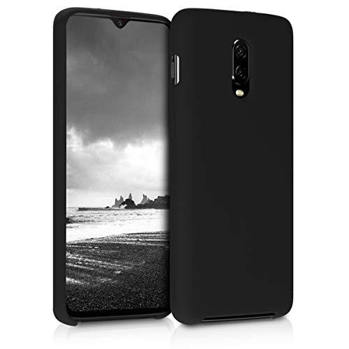 kwmobile Hülle kompatibel mit OnePlus 6T - Hülle Silikon gummiert - Handyhülle - Handy Hülle in Schwarz