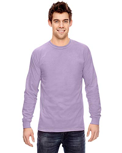 Comfort Colors 6014 Adult Heavyweight Ringspun Long Sleeve T-Shirt - Orchid - XL