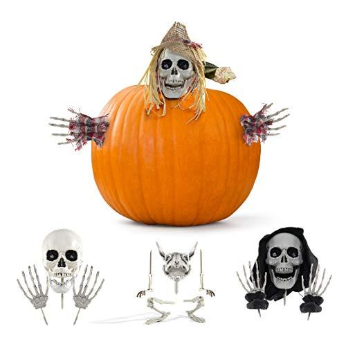 Prextex.com ¡Accesorios para Calabazas de Halloween para el Mejor Decorado de Calabazas de Halloween