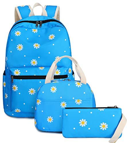 BLUBOON School Backpack Set Girls Womens Laptop Bookbag Casual Daypack Fits...