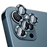 Hoerrye For Iphone 12 Pro Max Camera Lens Protector, Metal Full Cover + Tempered Glass Circle Screen Protection For Iphone 6.7'' - Pacific Blue