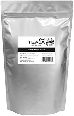 Teaja Organic Loose-Leaf Tea Earl 8 Grey Colorado Portland Mall Springs Mall Cream Bag Oz