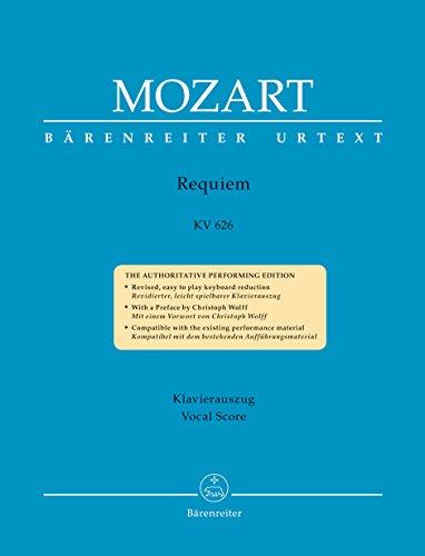 Requiem KV 626. Das von Franz Xaver Süßmayr vervollständigte Requiem in der traditionellen Gestalt. Klavierauszug vokal, BÄRENREITER URTEXT