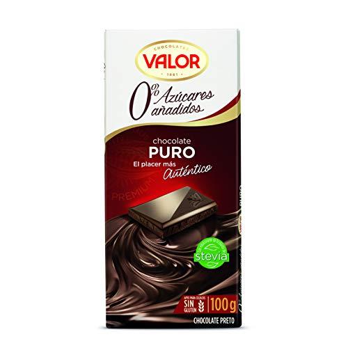 Chocolates Valor Puro 0% Azúcares Añadidos, 100g