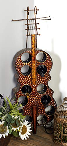 Deco 79 Metal Wine Rack, 17 by 47-Inch