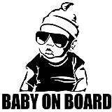 EROSPA® Auto-Aufkleber Baby On Board - Boy mit Sonnenbrille -