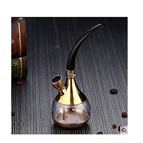 ZSQQSCL Escultura Estatua,Glass Hookah Travel Shisha Pipe Multi-Layer Filter Cigarette Holder Pot Set Bar Ktv Accesorios Exquisito