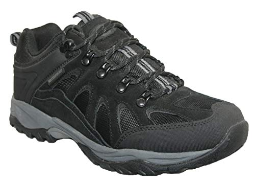 Northwest Territory Mens Nevada Fully Waterproof Walking/Hiking LACE UP Trainer Shoe (UK9, Black Steen)