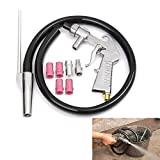 Kit pistola per sabbiatura ad aria, strumento multifunzione per la rimozione della polvere di vetro ugello per alimentazione a sifone, per la lavorazione della lucidatura (Imposta B )