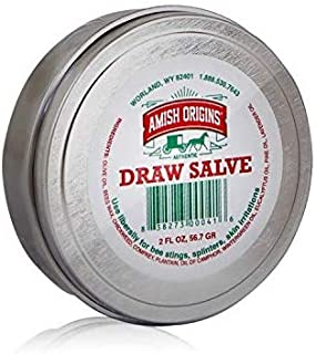 Amish Origins Draw Salve–2 oz, Authentic Amish Formula,Natural Powerful Salve, Provides Relief from Topical Pain and Irrit...