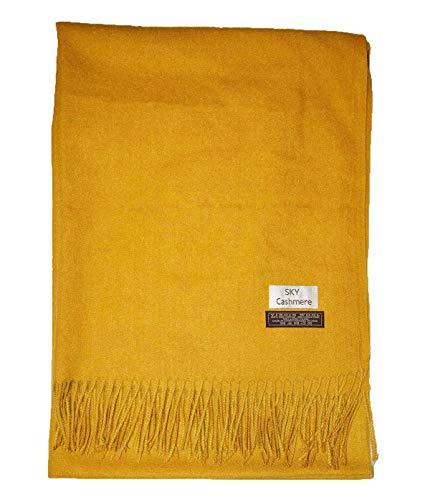 Luxuriöser, großer Schal von cashmere aus weicher Mischung aus echter Wolle