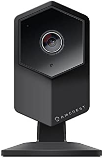 Amcrest ProHD Shield WiFi IP Security Camera, 960P 1.3 Megapixel (1280x960P), Two-Way Audio, Wide 140° Viewing Angle, MicroSD & Cloud Recording, Night Vision, IPM-HX1B (Black) (Renewed)