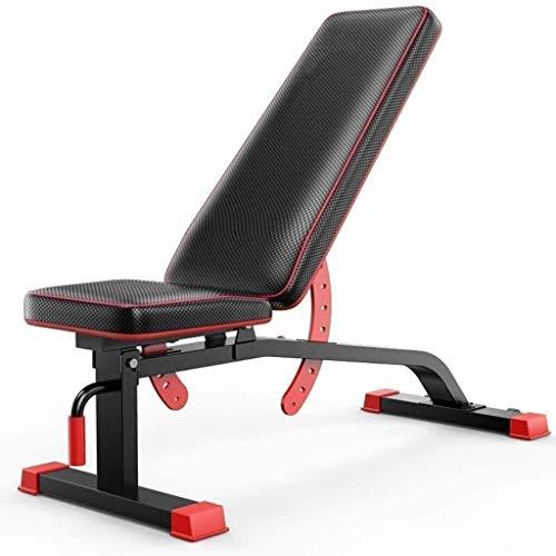 Bancos de pesas ajustables Plegables, Entrenamiento de gimnasia Fitness Inclinación Multiuso Sentadillas en casa Entrenamiento de cuerpo completo Ejercicio de entrenamiento plano / inclinado / declin