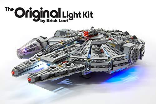 Brick Loot LED Lighting Kit for Lego Millennium Falcon - 75105 - Custom Designed - Handmade - Durability Tested