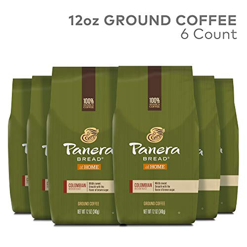 Panera Bread, Colombian, 12 oz. Ground Bag, Medium Roast Coffee, (6) Bags