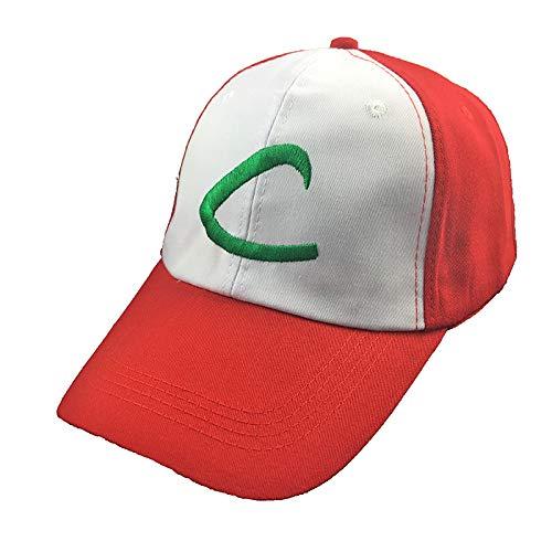 Baseball Kappe Anime Tasche Monster Ash Ketchum Cosplay Kostüme Hüte Pokemon Cap Verstellbare Gebogene Visier Hut Baseball Cap