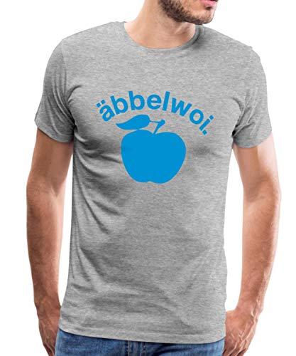 Äbbelwoi Apfelwein Frankfurt Männer Premium T-Shirt, L, Grau meliert
