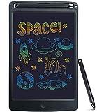 SCRIMEMO Tavoletta Grafica LCD Scrittura Digitale 8.5 Pollice Colorato,Elettronica Lavagna Cancellabile Tavolo da Disegno Portatile Lavagnetta Doodle per Bambini Insegnante Studenti (Nero)