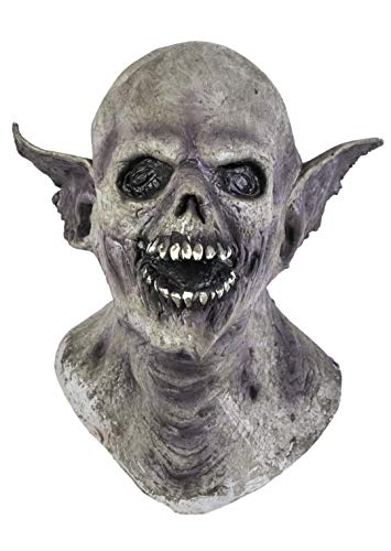 The Rubber Plantation TM 619219294157 Masque de vampire en latex pour Halloween avec tête entière, accessoire de déguisement, unisexe, adulte, taille unique