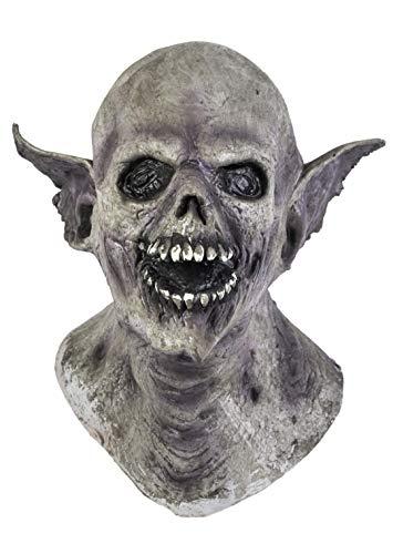 The Rubber Plantation TM 619219294157Fledermaus Vampir Latex Maske Halloween Full Head Horror Kostüm Zubehör Dracula, Unisex, ONE SIZE
