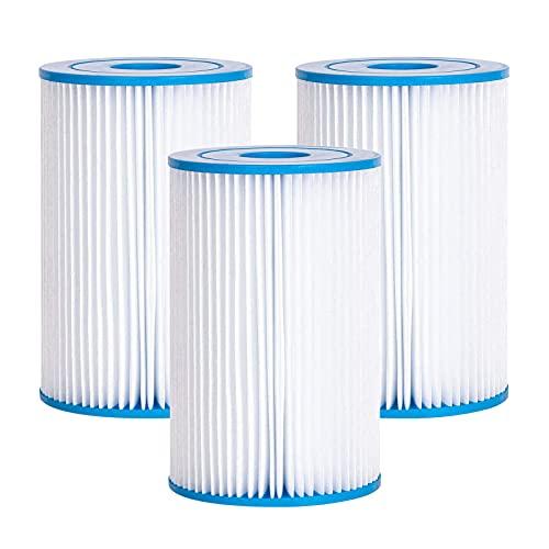 Cdemiy Cartuchos de Filtro, 3 Pcs Bestway Size II Cartucho para Filtros para Piscinas, Bomba de Filtro de Agua de...
