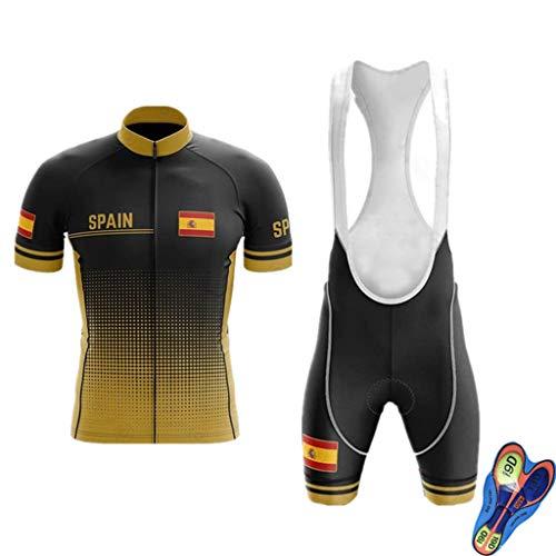 WLYX España Conjunto Ropa Traje Ciclismo Hombre para Verano, Maillot Ciclismo Hombre+Culotte Ciclismo Culote Bicicleta Pro Equipo Bicicleta Jersey (2,M)