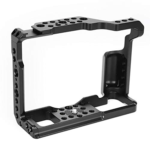 Jaula de cámara para Fuji, kit de jaula de marco de cámara de fotografía de disparo vertical de aleación de aluminio, accesorio para Fuji XT2/XT3, con orificios para tornillos de 1/4 pulgadas/3/8 pulg