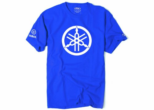 Factory Effex 17-87272 'YAMAHA' 2D Tuning Fork T-Shirt (Royal Blue, Medium)
