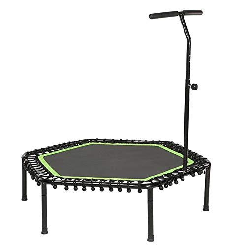 QHGao Home Indoor Fitness Trampoline, Professionele Bungee Spring Top, Gemakkelijk te gebruiken, Gemakkelijk uit te springen van goed lichaam, T-Shaped Armrest Hoogte Verstelbaar Handvat, Aerobic Jump Oefening