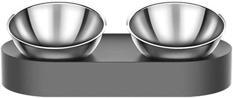 Elevated Dog Cat Bowls with 2 Ranking TOP12 15° Stainless Steel Tilt Easy-to-use