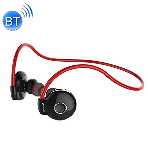 Noise Cancelling koptelefoon A845BL Sports Bluetooth CSR4.1 koptelefoon draadloze in-ear oortelefoon met microfoon voor iPhone, Samsung, Hu, Xiaomi, HTC en andere smartphones, alle audio-apparaten (zwart), rood