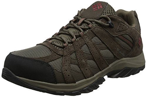 Columbia Canyon Point, Zapatillas de Senderismo Impermeables para Hombre, Marrón (Mud, Red Element), 42 EU