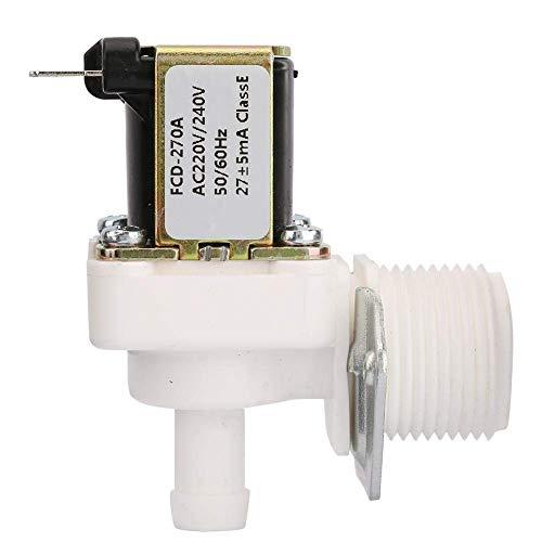 Válvula, válvula de solenoide de 3/4 rosca válvula de solenoide AC 220V N/C Válvula solenoide de plástico eléctrica normalmente cerrada para heladera