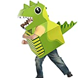 Juguete de cartón para animales, triceratops, tiranosaurio Rex, elefante, jirafa, tiburón, disfraz de animal de papel para cosplay (Tyrannosaurus Rex)