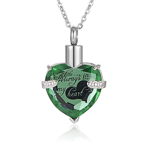 ZHSDTHJY Urnas Familiares conmemorativas Botella de Perfume Collar Ceniza Colgante-A
