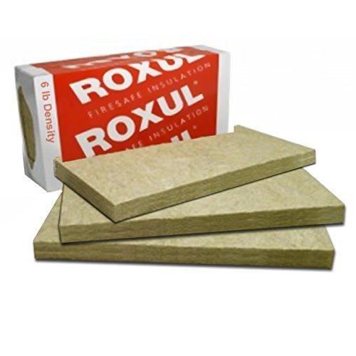 Rockwool Acoustic Mineral Wool Insulation 60-6lb 48'x24'x4' 3pcs