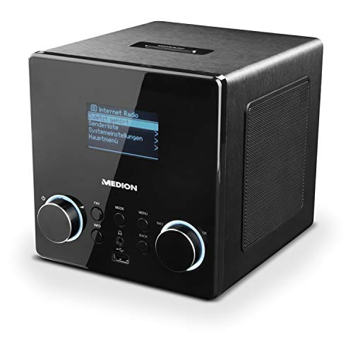 MEDION P85044 WLAN Internetradio mit DAB+ (WiFi, DAB Plus, Spotify, UKW Radio, LAN, USB, Stereo Line Out, AUX)