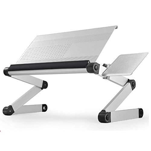 HYY-YY Zusammenklappbarer Laptop-Schreibtisch, Computertisch, höhenverstellbar, Betttisch für Bett, Sofa für Zuhause und Büro, für Bett, Sofa, Boden (Farbe: Silber, Größe: 45 x 25 cm)