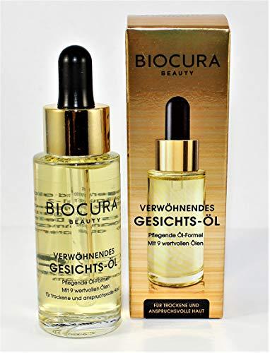 BIOCURA Beauty Gesichtsöl 30 ml reichhaltige Pflege für trockene u. anspruchsvolle Haut