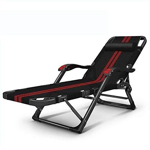 Chaise Longue Pliable, Pause Déjeuner Accueil Nap Lit, Balcon Loisirs Lazy Beach Chair, Transat Multifonction Portable (Color : A)