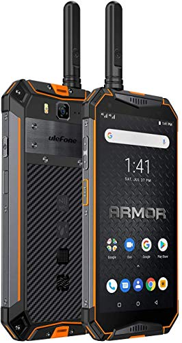 Ulefone Armor 3WT (2019) Outdoor Smartpone mit Walkie Talkie, Helio P70 6GB RAM + 64GB ROM, 10300 mAh Akku, 5,7 Zoll, 21MP+8MP Kamera, Dual SIM Global LTE Handy IP69K, Android 9.0 - Orange