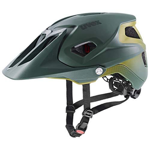 uvex Quatro integrale Tocsen Casco de Bicicleta, Unisex-Adult, Forest-Mustard Mat, 56-61 cm
