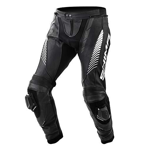 SHIMA Apex, Motorradhose Lederkombi Motorradbekleidung Zweiteiler Motorradkombi Motorradanzug, (48-58, Schwarz), Größe 48