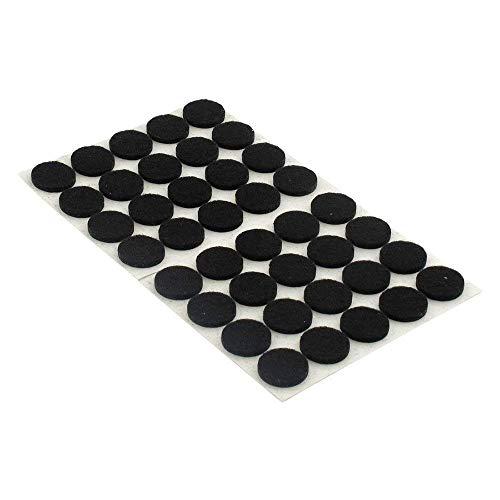 PULABO Almohadillas de fieltro autoadhesivas para muebles protectores de suelo para muebles resistentes a los arañazos 80 unids negro exquisita mano de obra buena calidad