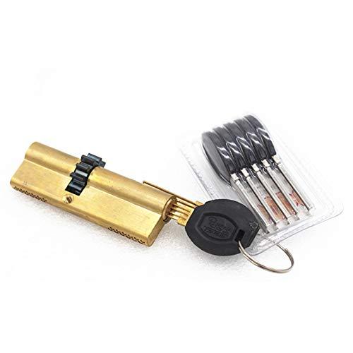 Bombin Cerradura Cerradura de cilindro 11 dientes de los engranajes de la puerta del cilindro 63 68 73 80 93 95MM de Viento Metal Core cerradura de seguridad de doble muelle Súper Con Claves AB Cerrad
