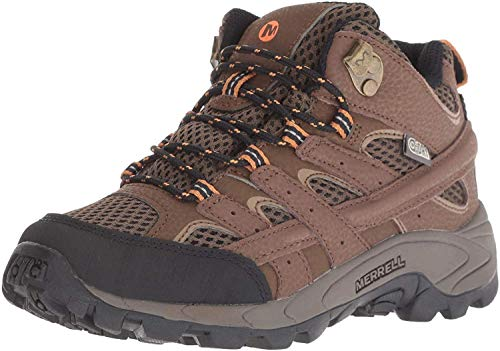 Merrell Boys M-moab 2 Mid Wtrpf Hiking Boot, Earth, 4.5 Big Kid US