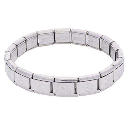 La CIMA Daisy Embossed Base Starter Bracelet Fits all 9mm Italian Style Charm Bracelets