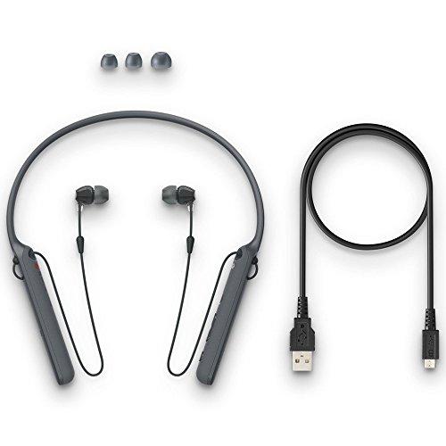 Sony WI-C400 Kabelloser In-Ohr Kopfhörer, Neckband Design (Bluetooth, NFC, Headset-Funktion, bis zu 20 Stunden Akkulaufzeit) Schwarz
