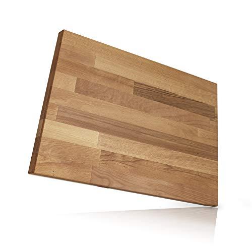 Behrwerk XXL Schneidebrett Holz I 40 cm x 50 cm I Massives Buchenholz aus Europa Perfekte Schneideunterlage für die Küche - Perfekt als Kochbrett, Brot Schneidbrett und Küchenbrett